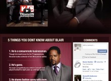 Blair Underwood for K&G: Facebook Tab
