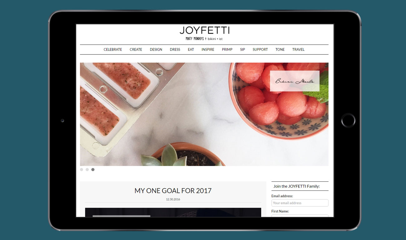 Joyfetti Lifestyle Site