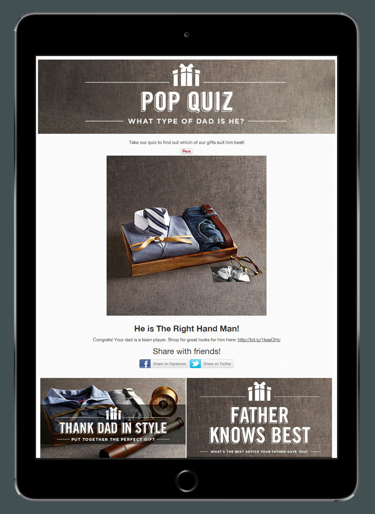 Men's Wearhouse Father's Day Pop Quiz Results