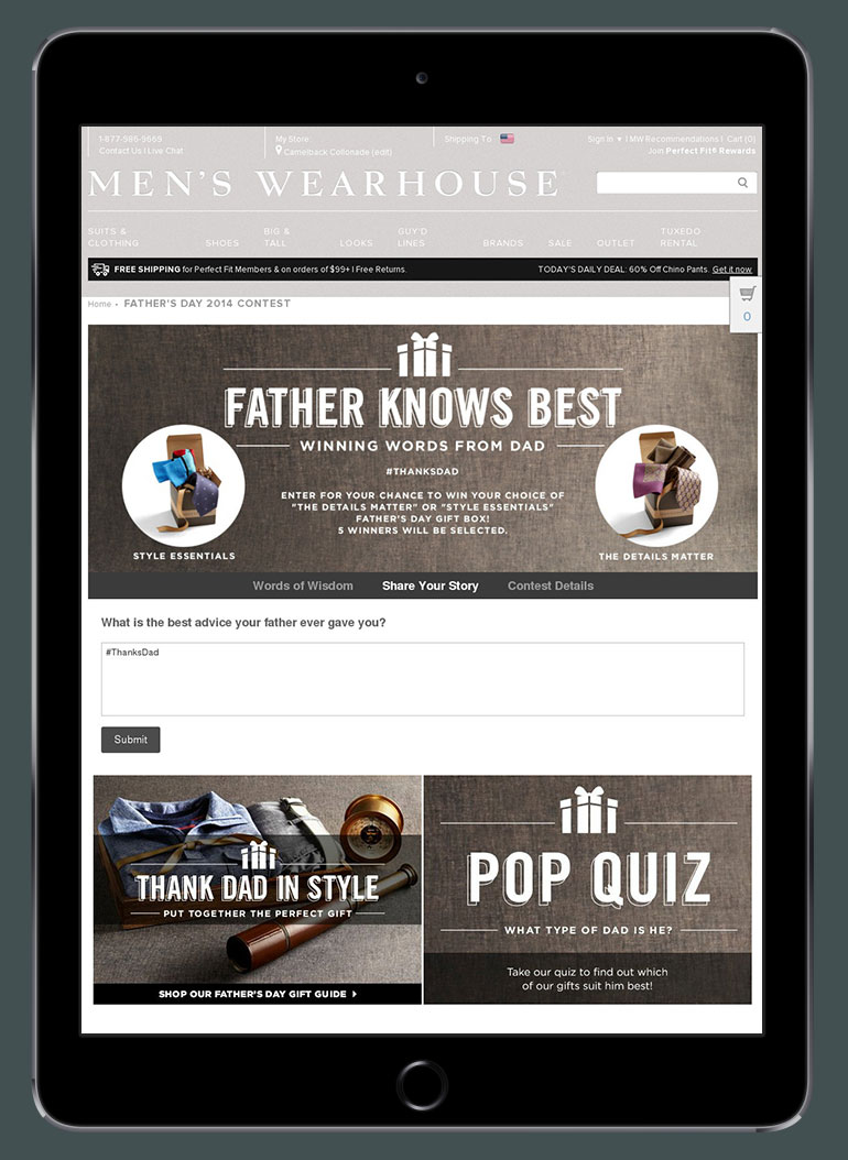 Men's Wearhouse Father's Day