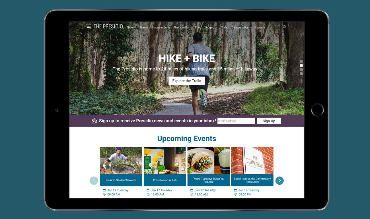 The Presidio Trust Website