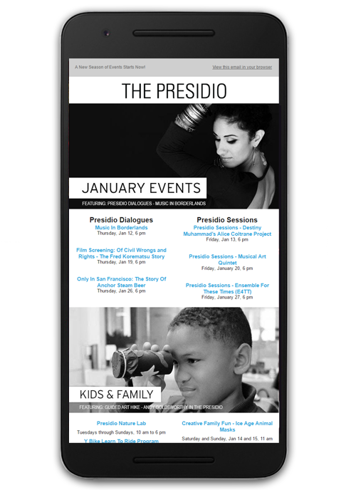 The Presidio Email Marketing